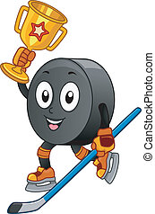 hockey, glace, mascotte