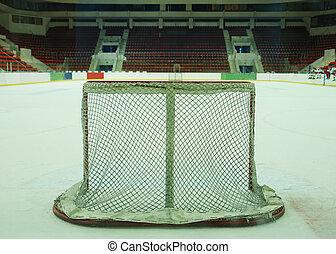 hockey goal - The empty ice hockey goal...