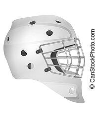 Hockey goalie mask on a white background. Vector illustration.