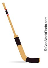 Hockey goalie stick - hockey goalie stick on white...