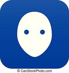 Hockey goalkeeper helmet icon blue vector