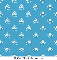 Hockey goalkeeper pattern seamless blue