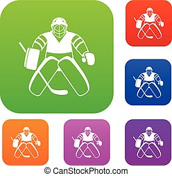 Hockey goalkeeper set collection