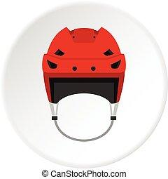 Hockey helmet icon circle