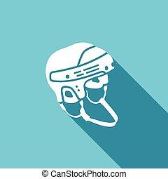 Hockey helmet icon. Vector Illustration