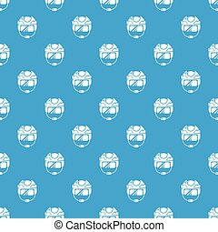 Hockey helmet pattern vector seamless blue
