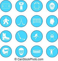 Hockey icon blue