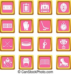 Hockey icons pink