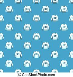 Hockey jersey pattern seamless blue