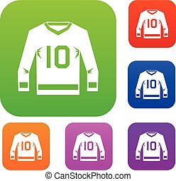Hockey jersey set color collection