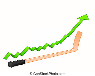 hockey kitart, növekedés
