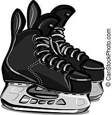hockey läuft schlittschuh