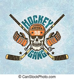 Hockey logo - a skull in a helmet