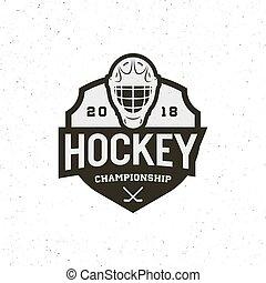 hockey logo. sport emblem vector illustration