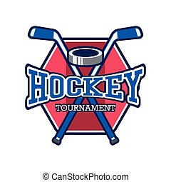 hockey logo with text space for your slogan tag line, vector illustration
