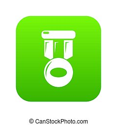 Hockey medal icon green