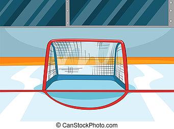 hockey, patinoire