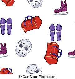 Hockey pattern, cartoon style