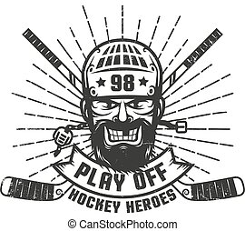 Hockey play off logo