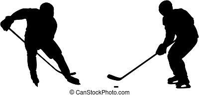Abstract vector illustration of hockey player silhouette