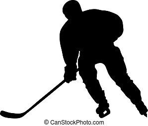 Hockey player - Abstract vector illustration of hockey...