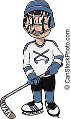 hockey player cartoon design