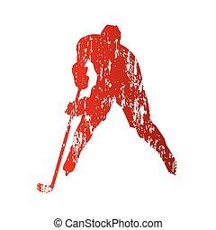 Hockey player. Grunge