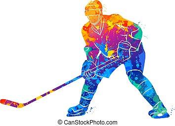 Hockey player illustration