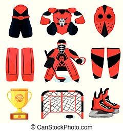 Hockey player set