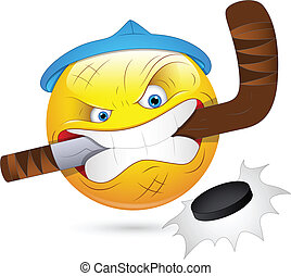 Hockey Player Smiley Character