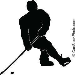 hockey player - vector - illustration of hockey player -...