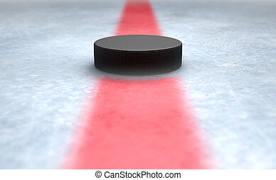 Hockey Puck Centre - A 3D render of the center mark of an...