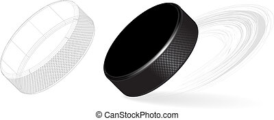 Hockey Puck Isolated on White Background. Vector