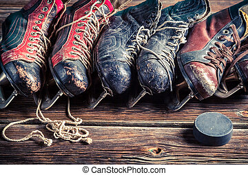 hockey,  Retro, patines