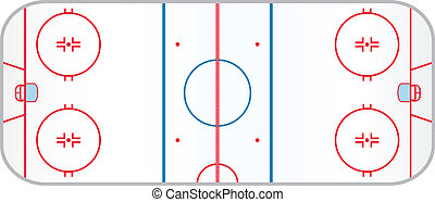 Hockey Rink - A hocky rink with realistic markings like the...