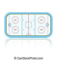 Hockey rink - Vector illustration of a hockey rink