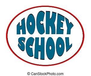 hockey school. Logo for a sports organization. Winter sport.