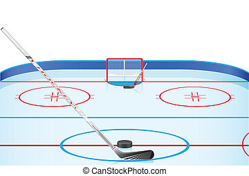 hockey set vector illustration isolated on white background