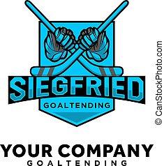 hockey sport logo designs with logo esport and shield