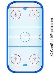 hockey stadium illustration isolated on white background