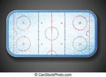 Hockey stadium on top. Eps 10