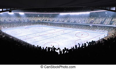 hockey, stadium., sporten, event.