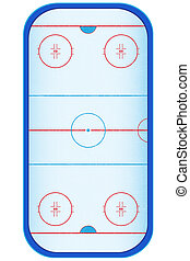 hockey stadium vector illustration isolated on white background