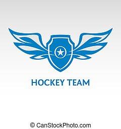 Hockey team. Heraldic logo