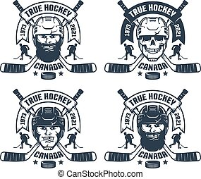 Hockey team logo in retro style