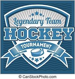 Hockey team logo template. Emblem, logotype template,...