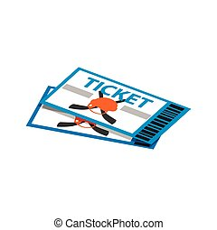 hockey tickets isometric 3d icon