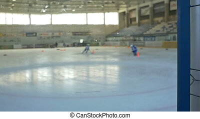 Hockey Training Day - Slow motion shot of sportsman training...