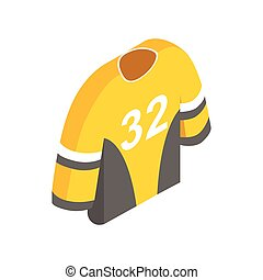Hockey uniform isometric 3d icon