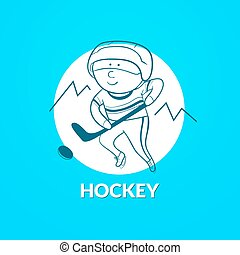 Hockey vector logo